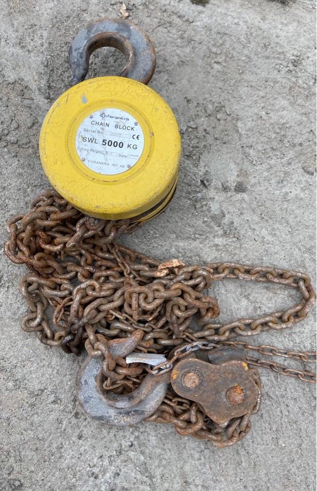 лебёдка цепная ручная на 5000 кг